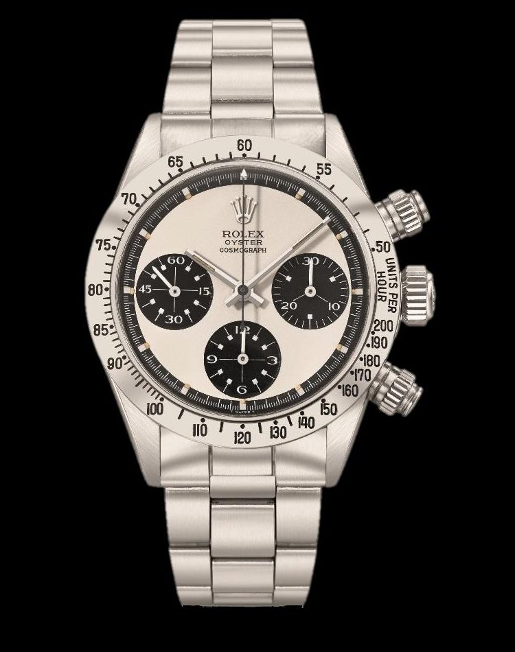 "Christie's Rolex ref. 6265 Paul Newman ""Mystery Cross""."